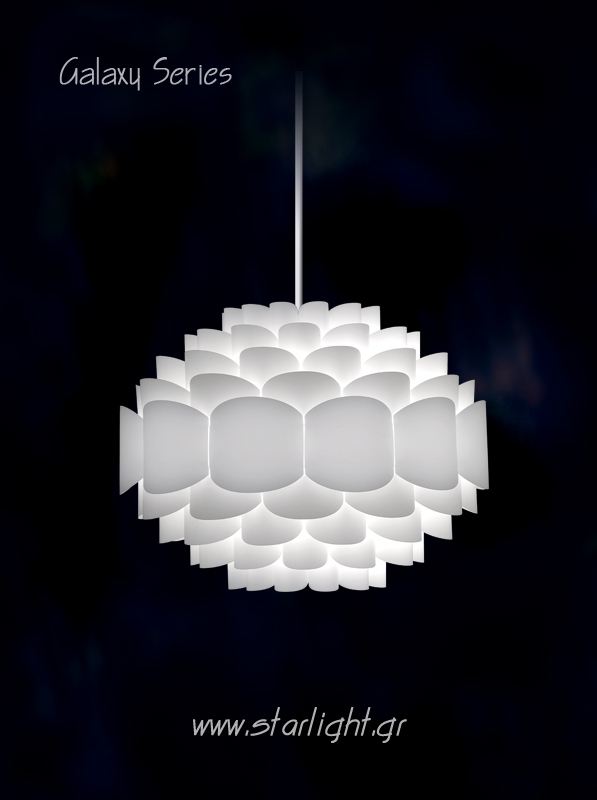Pendant Lamp Shade Galaxy in White.