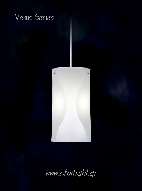 Pendant light fixture Venus in White.
