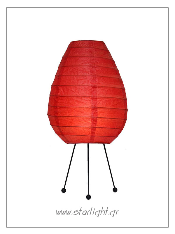 Egg shaped oval rice paper & baboo lamp.