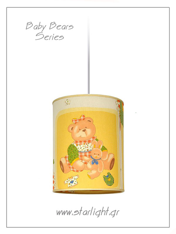 Pendant Children's Lampshades Baby Bears collection.