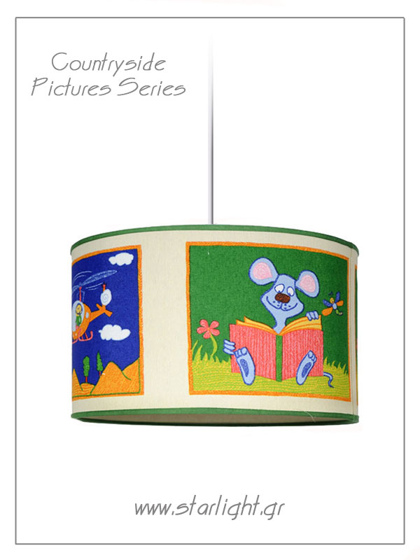Pendant Children's Lamp shades Countryside Pictures