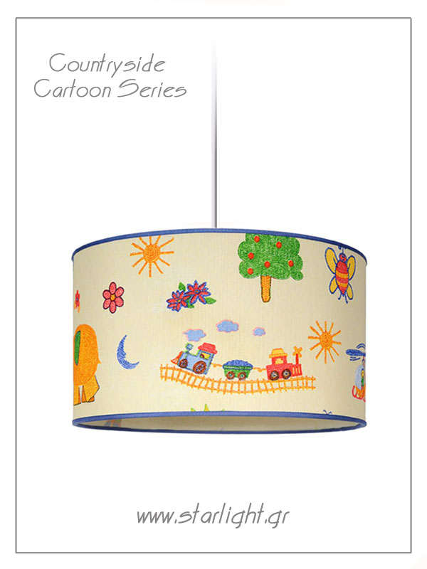 Pendant Children's Lampshades Countryside Cartoon