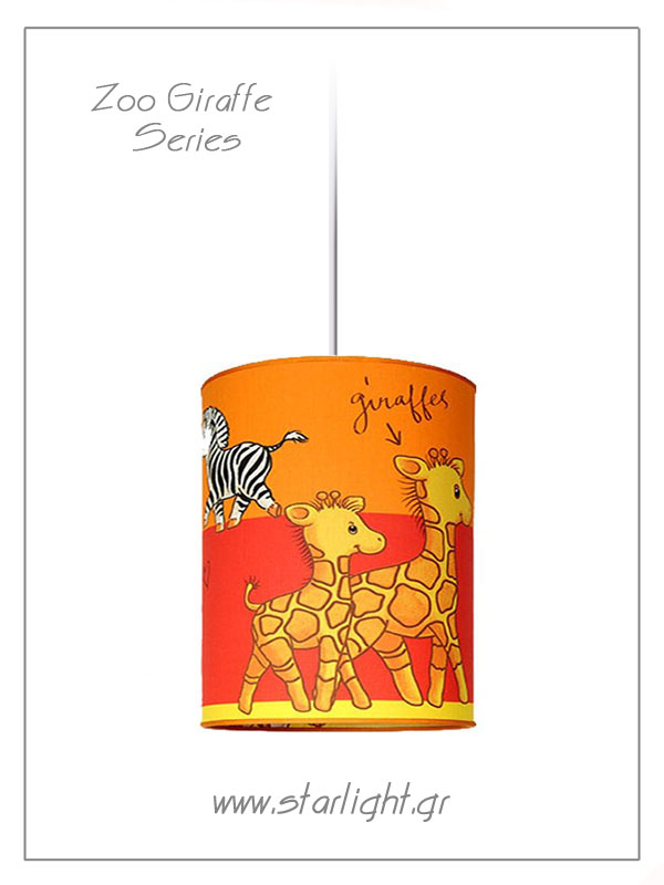 Pendant Children's Lampshades Zoo Giraffe Collection