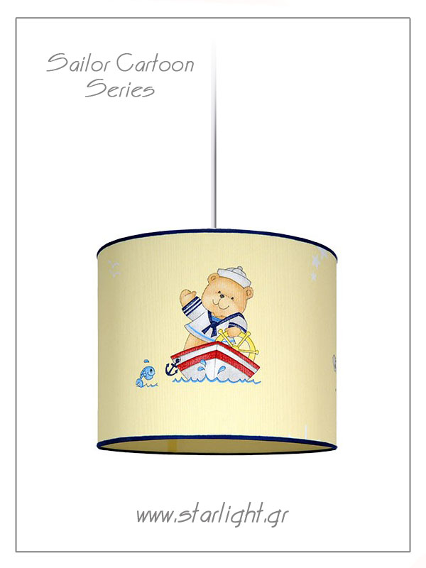 Pendant Children's Lampshades Sailor Cartoon