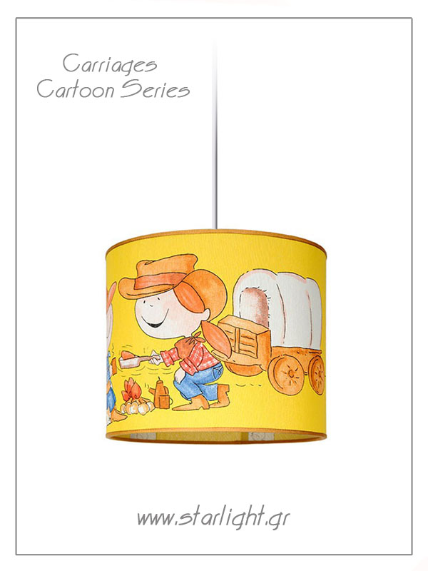 Pendant Children's Lampshades Carriages Cartoon