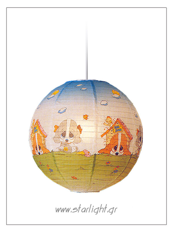 Pendant rice paper lanterns fror kids' bedrooms.