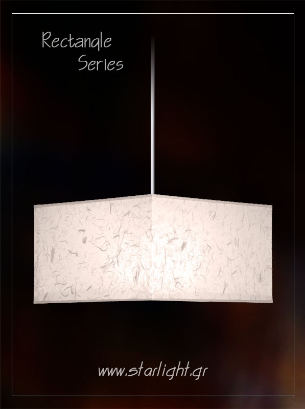 Pendant rectangle lampshade