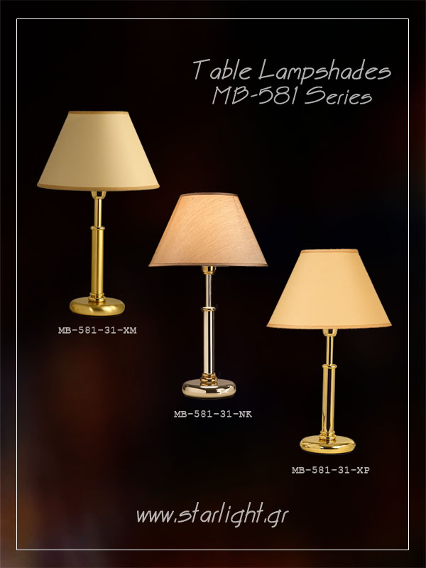 Metallized table lamp base.
