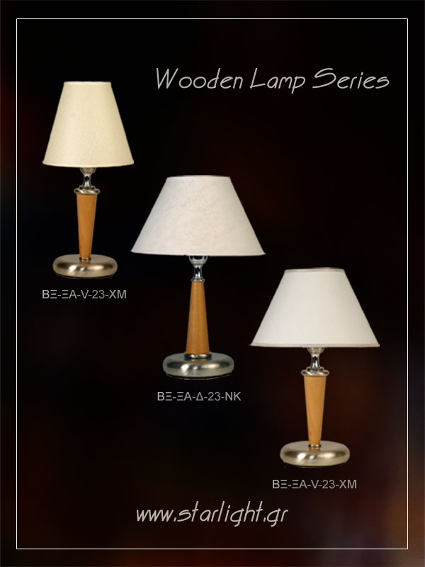 Wooden table lamp bases.