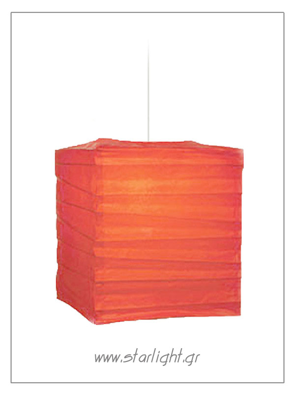 Square shaped rice paper & baboo lamp shade.